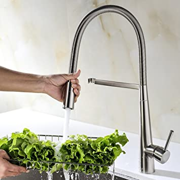 Amazon.com: Avola Solid Brass Kitchen Sink Faucet With Single ...