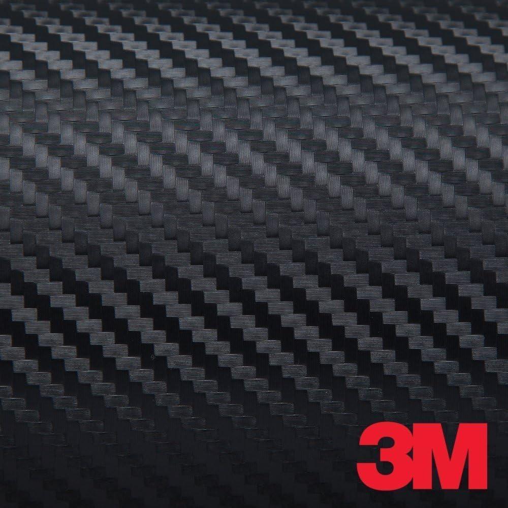 "3M JAPAN DI-NOC Black Carbon Fiber DINOC Flex Wrap CA-421 24""x12"" Made In Japan"