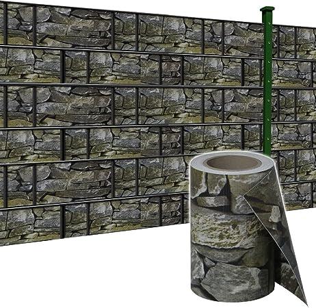 65M Sichtschutzstreifen PVC Stabmattenzaun Doppelstabmattenzaun Druck Zaunfolie