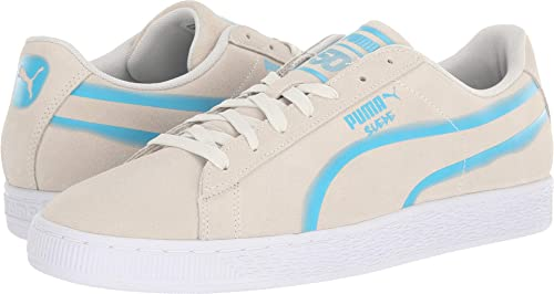 PUMA Mens Suede Classic X Hollows Vaporous Gray/Hawaiian Ocean/Puma White 5.5 D
