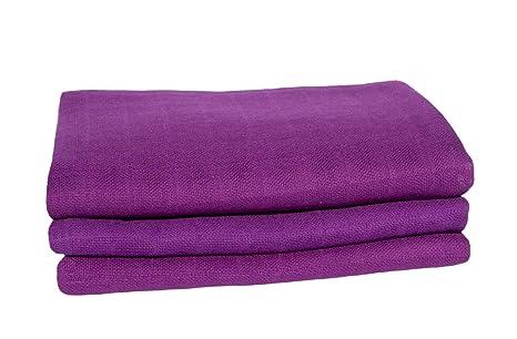 Juego de 3 toallitas de gasa de colores, aprox. 80 x 80 cm,
