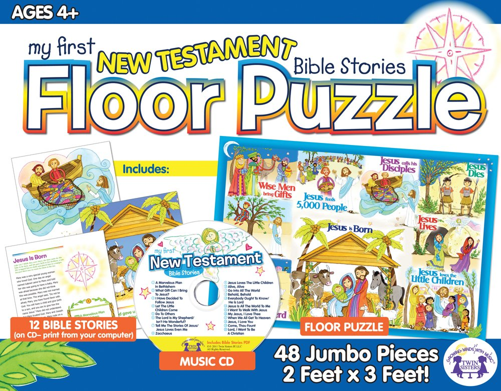 Download My first New Testament bible Stories Floor Puzzle/Music CD/12 Bible Stories pdf
