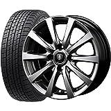【2016年製】国産スタッドレスタイヤ(155/65R14)+ホイール(14インチ) 4本SET(1台分)■Cセット:マナレイG10[メタリックグレー]