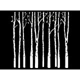 Birch Trees 3-7//8 White 16CC575 Fused Glass Decal Must be kiln Fired
