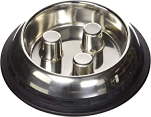 ProSelect Dog Stainless Steel Brake-Fast Slow Feed Bowl
