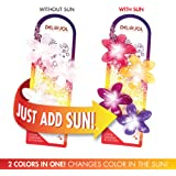 Girl's Color-Changing Hair Clips by Del Sol - Plumeria Flower - Changes Color in the Sun