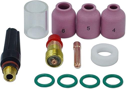 TIG Pyrex Cup #12 Gas Lens Kit For DB SR WP 17 18 26 TIG Welding Torch 26pcs