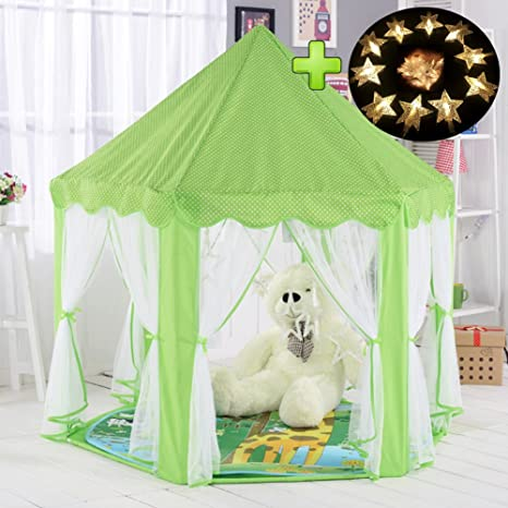 MYMM Children tent, Princess Castle Play Tent, Kids Nook Tents for Indoor & Outdoor Use, Carrying Case, baby birthday gift, Can be used for ten years