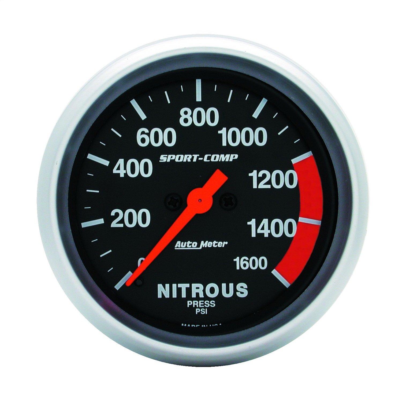 Auto Meter 3574 Sport-Comp Electric Nitrous Pressure Gauge by AUTO METER