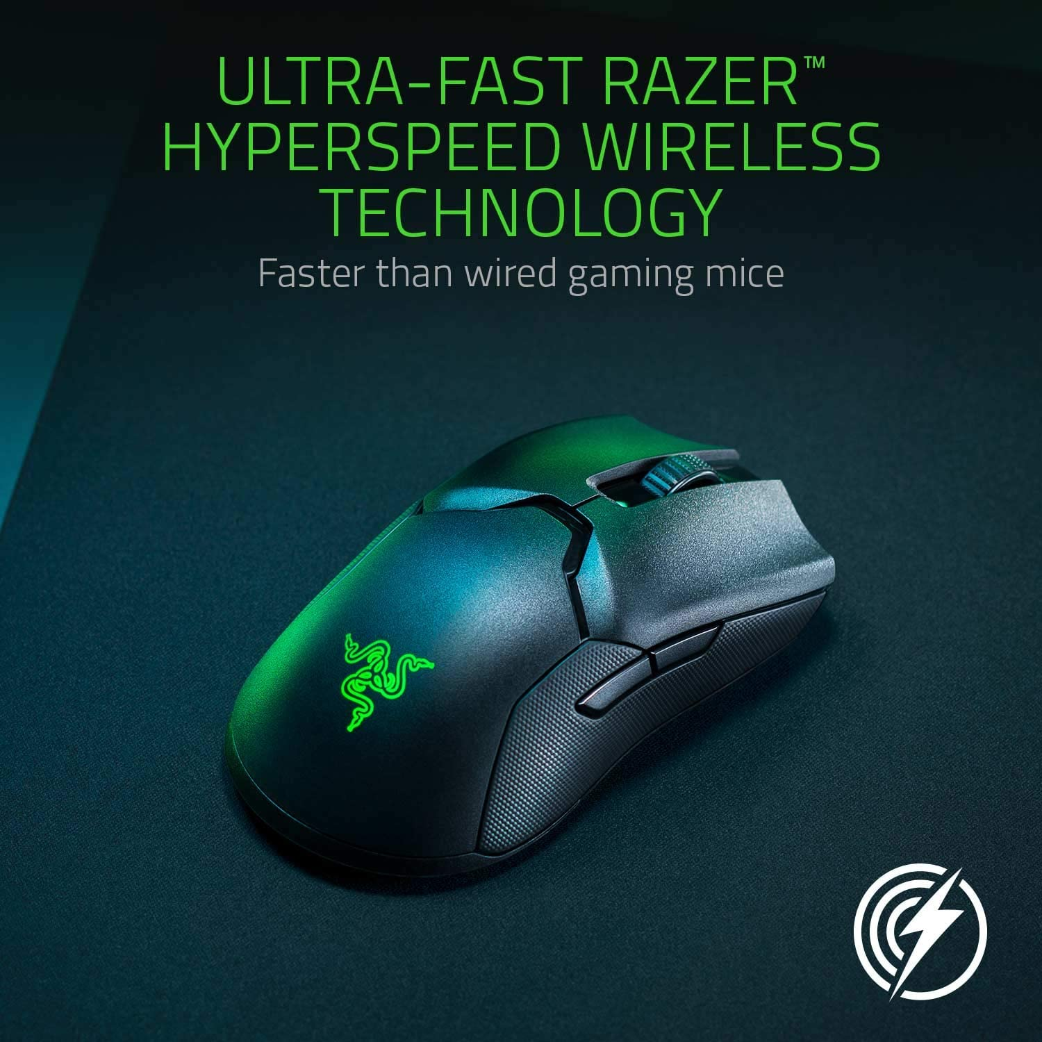 Razer Viper Ultimate Ambidextrous Gaming Mouse with Razer HyperSpeed Wireless - Black 5