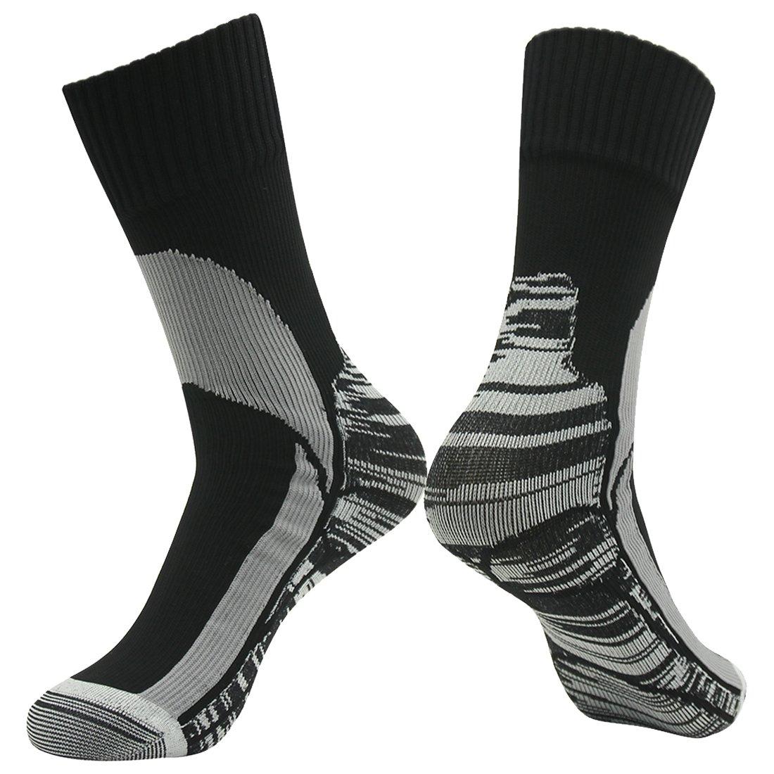 Waterproof Golf Socks, RANDY SUN Men's Breathable Ventilated Cushioned Quarter Trekking Mid Calf Socks XS by RANDY SUN