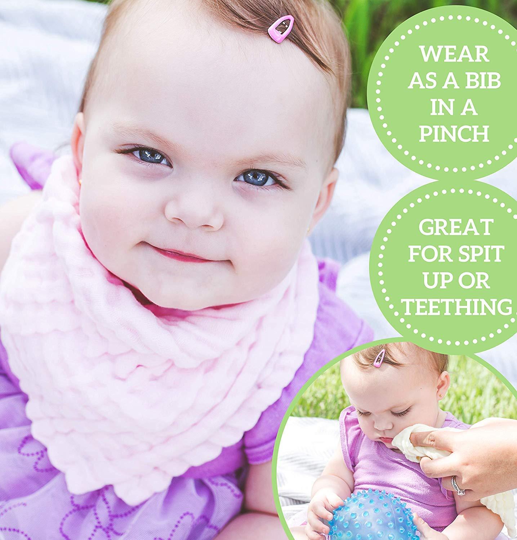 100/% nat/ürliche Baumwolle Baby T/ücher Weiches Baby Gesicht Handtuch und Musselin Waschlappen f/ür empfindliche Haut Baby Musselin-Waschlappen