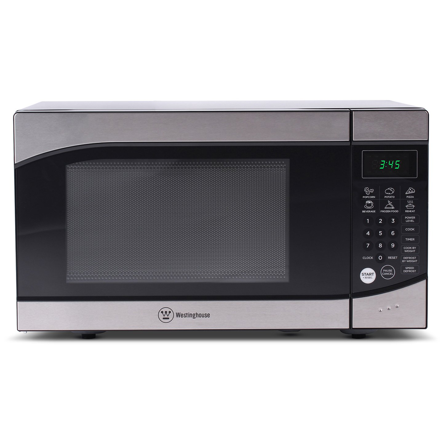 Westinghouse, WM009, Countertop Microwave Oven, 900 Watt, 0.9 Cubic Feet, Stainless Steel Front, Black Cabinet, Small by Westinghouse (Image #2)