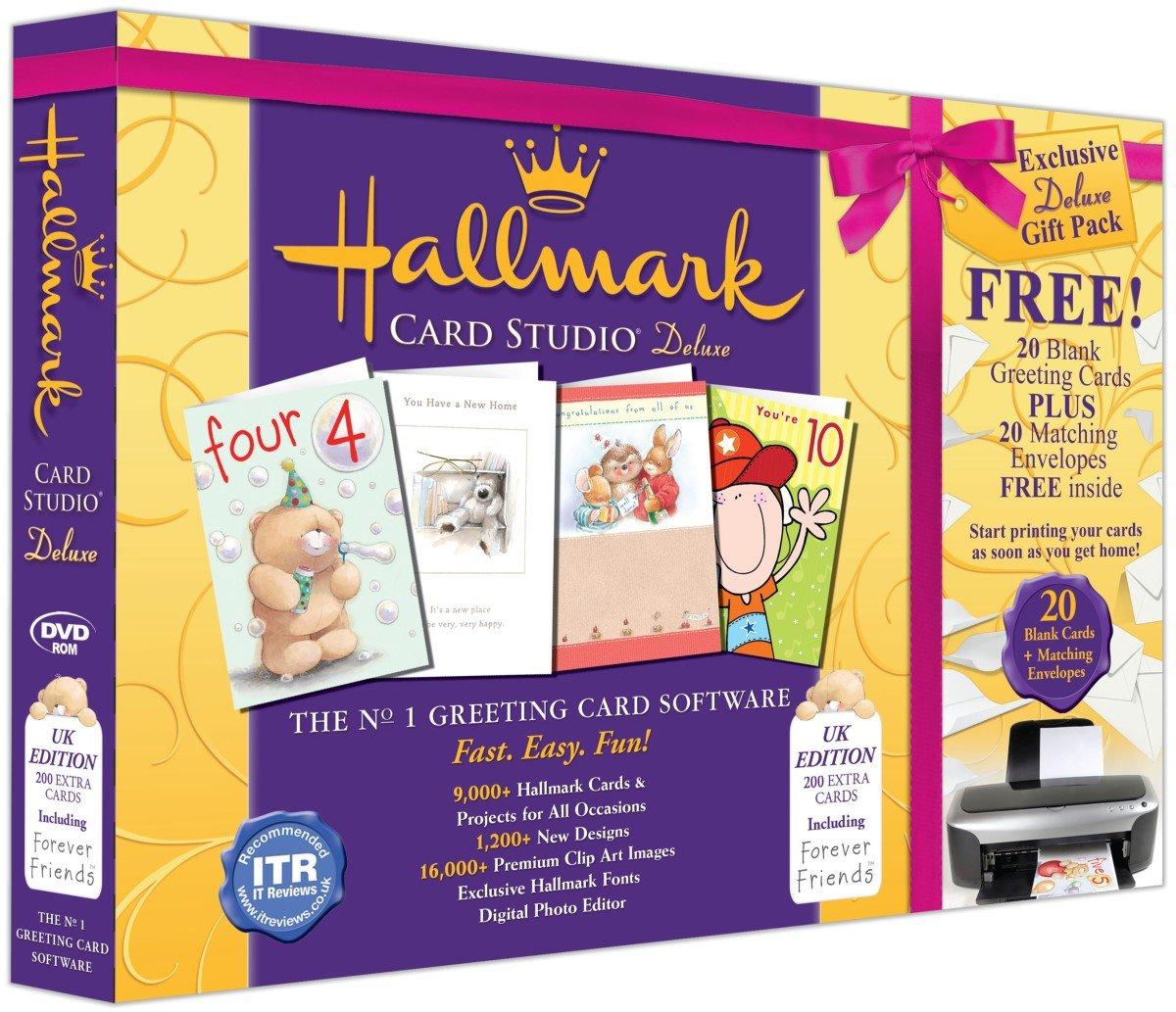 Hallmark Card Studio Deluxe Gift Pack PC DVD Amazoncouk Software – Hallmark Personalised Birthday Cards