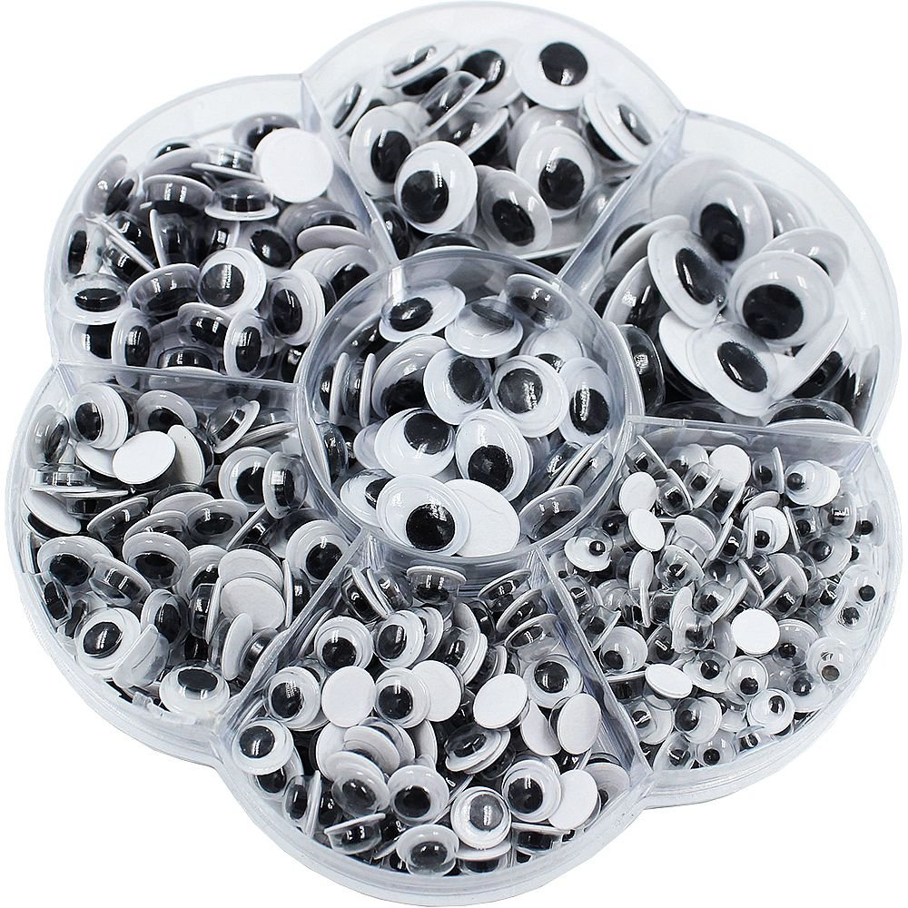 600 Pieces Mixed Self-adhesive Wiggle Googly Eyes DIY Scrapbooking Crafts Toy Accessories (Assorted Sizes) BTH 4336856365