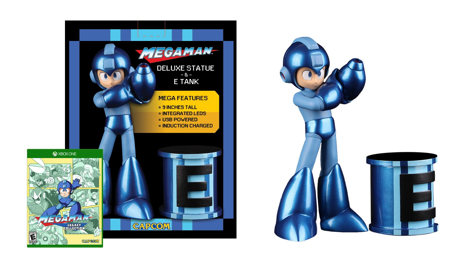 Mega Man Statue & E-Tank with Mega Man Legacy Collection Game - Xbox One Special Edition by Capcom (Image #1)