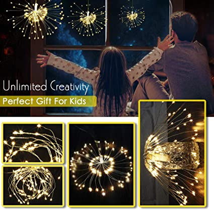 Twinkle Fiber Optic Battery Led String Strip Night Light Lamp Christmas Wedding Home Decrations 2019 New Year Festive & Party Supplies