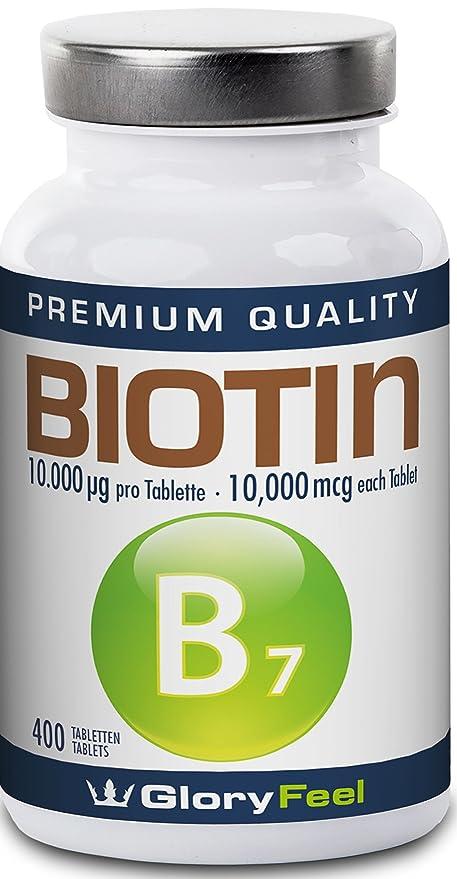 Biotina Crecimiento del cabello 400 tabletas de Biotina concentrada ...