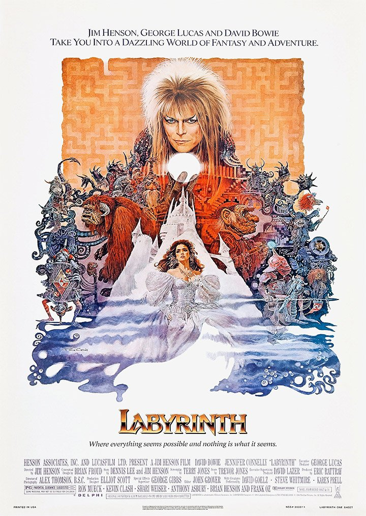 Classic Labyrinth David Bowie Jim Henson Movie Film A4 Poster / Print / Picture 260GSM Satin Photo Paper OMG Printing