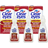 3-Pack Clear Eyes Maximum Redness Relief Eye Drops, 0.5 Ounce per Pack