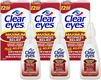 3-Pack Clear Eyes Maximum Redness Relief Eye Drops