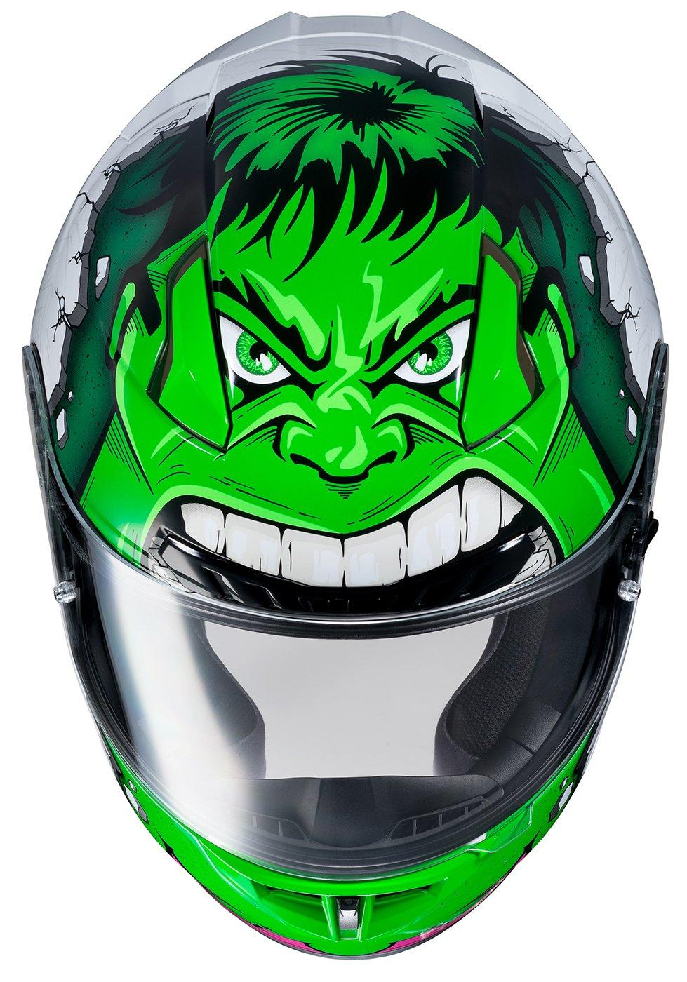 HJC Helmets Unisex-Adult Full face Hulk Helmet Green Small