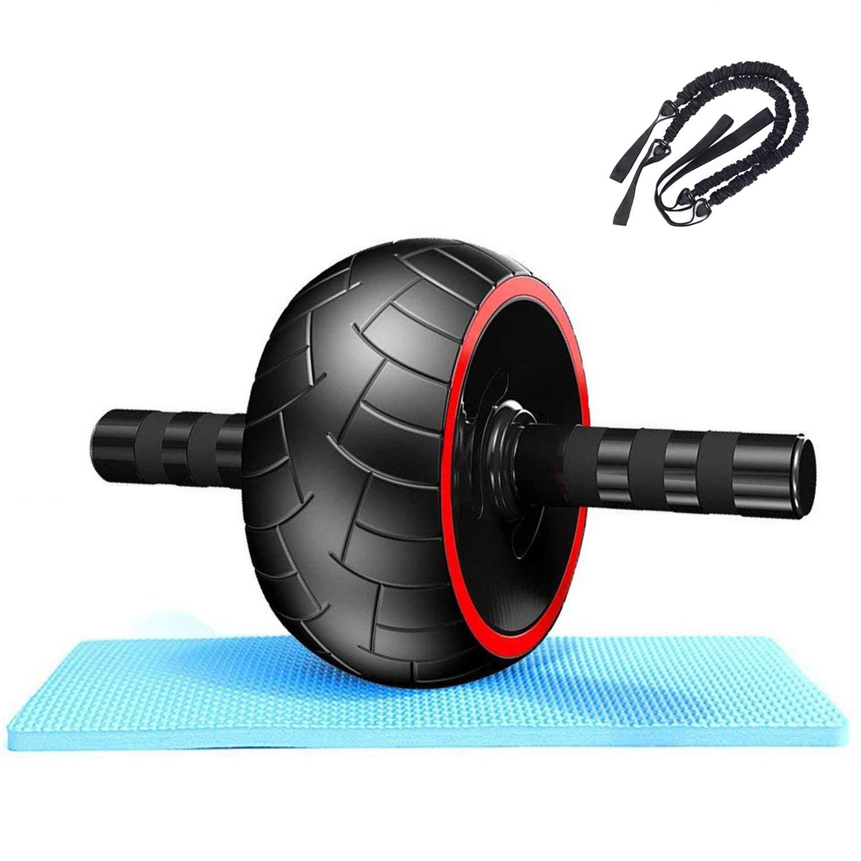 QYXANG Ab Roller Wheel, Extra Wide Wheel von für Advanced Bauchmuskelübungen und Fitness mit Knieschoner und Rad Pull Seilen