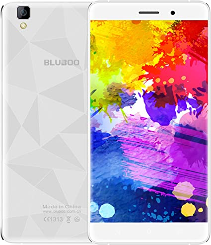BLUBOO® Maya 3G Smartphone Android 6.0 5.5 inch HD Pantalla MTK6580A Ocho Núcleos 1.3GHz, 2GB RAM+16GB ROM, Gravity Sensor A-GPS, 13MP Cámara Trasera [Blanco]: Amazon.es: Electrónica