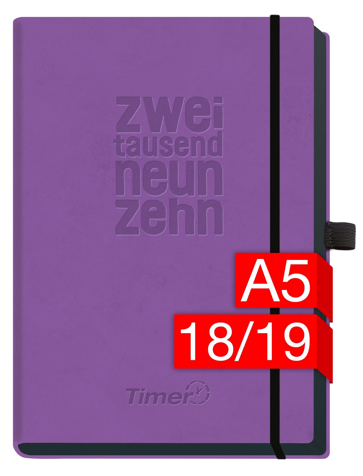 chff-timer-deluxe-a5-kalender-2018-2019-lila-18-monate-juli-2018-dezember-2019-gummiband-einstecktasche-stifthalter-terminkalender-mit-wochenplaner-organizer-wochenkalender