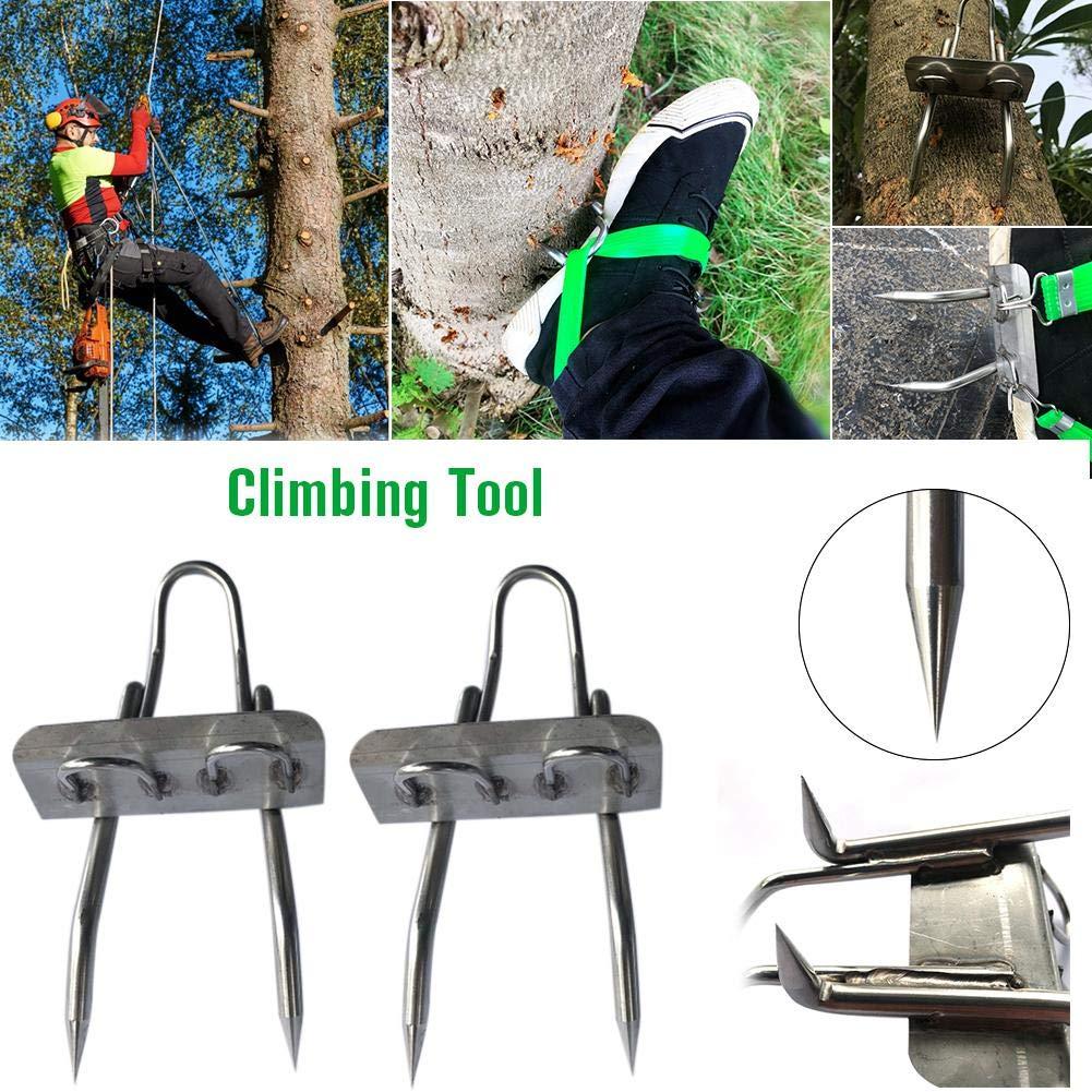 Picos de escalada en poste Herramienta antideslizante para trepar a los /árboles para la observaci/ón de caza Recolecci/ón de fruta Zapatos trepadores de acero inoxidable 304 F/ácil de usar