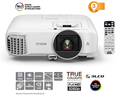 Epson EH-TW5600 Video - Proyector (2500 lúmenes ANSI, 3LCD, 1080p (1920x1080), 35000:1, 16:9, 762 - 7620 mm (30 - 300