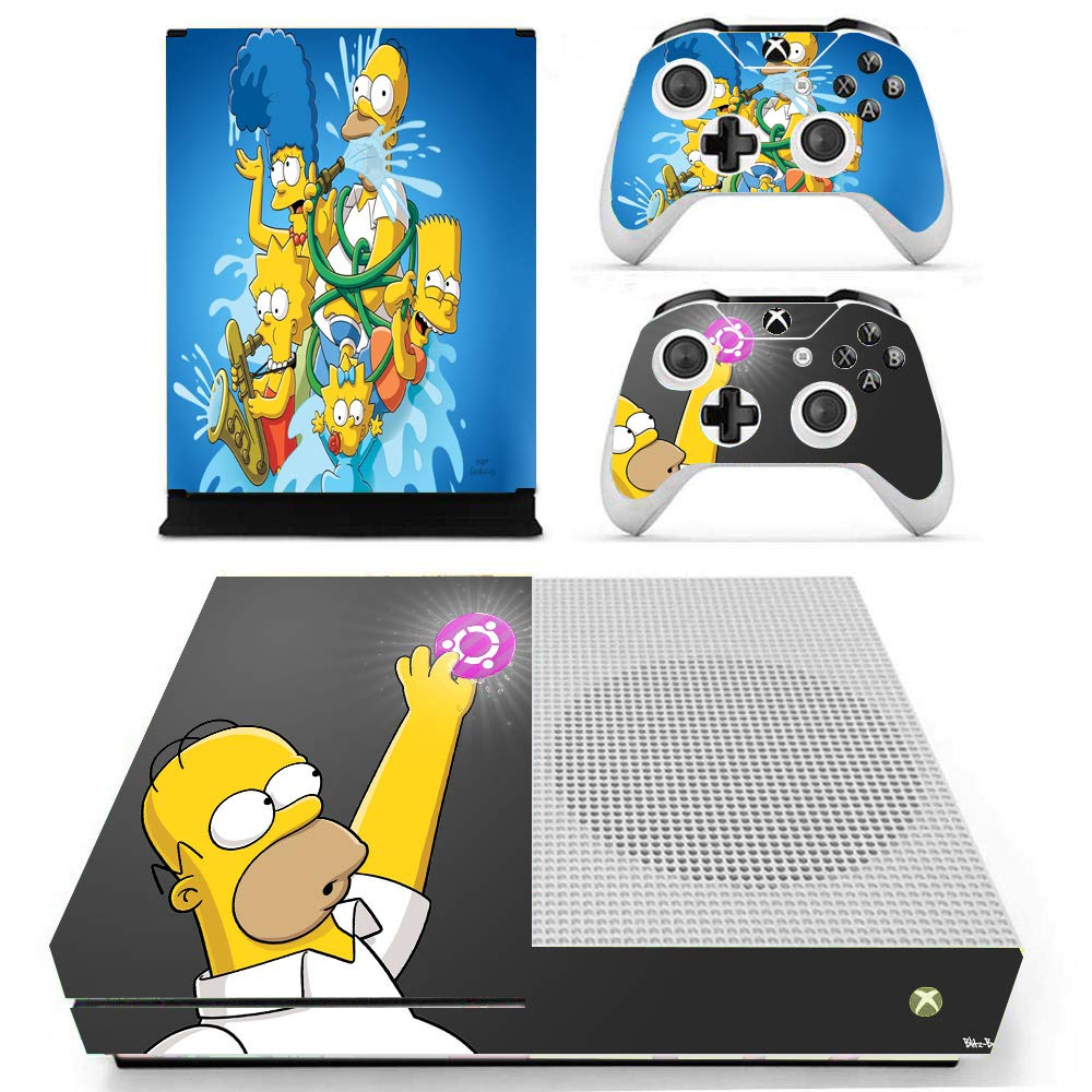 Amazon Com The Simpsons Xbox One S Skin Set Full Faceplates Skin Console Controller Decal Stickers By Kalinda Modi Video Games
