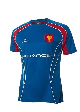 Camiseta para seguidores de equipo de Rugby de Francia Olorun Azul Francia - S