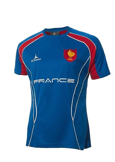 Camiseta para seguidores de equipo de Rugby de Francia Olorun Azul ...