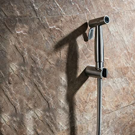 10x Brass, Stainless Steel Health Faucet Opera with Tube & Hook (Chrome)