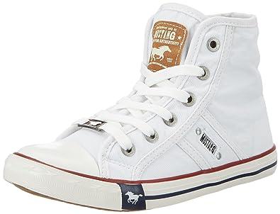 Mustang Unisex-Kinder 5803-305-1 Sneaker, Weiß (Weiß 1), 32 EU