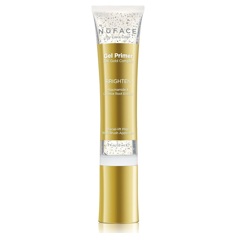 NuFACE 24K Gold Brighten Gel Primer | Fragrance-Free | Lightweight Application | Excellent for Diminishing Dark Spots | 2 Fl Oz