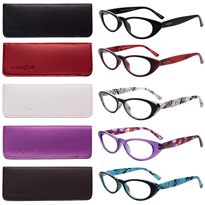 1e33f6be3ed LianSan 5 Pairs Ladies  Vintage Cat Eye Readers Quality Reading Glasses for  Women L3720(
