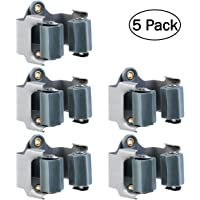 OUNONA 5 unidades Colgador Escobas adhesivo soporte escobas