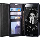 S5 Case, LK Galaxy S5 Wallet Case, Luxury PU Leather Case Flip Cover with Card Slots & Stand For Samsung Galaxy S5, BLACK