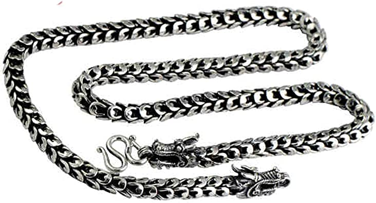 Aooaz Collier Homme Acier Inoxydable Chevaliere Cha/îne Colliers Homme