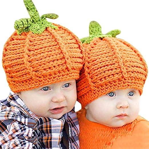 Amazon Com Baby Knit Pumpkin Hats Infant Newborn Boy Girl