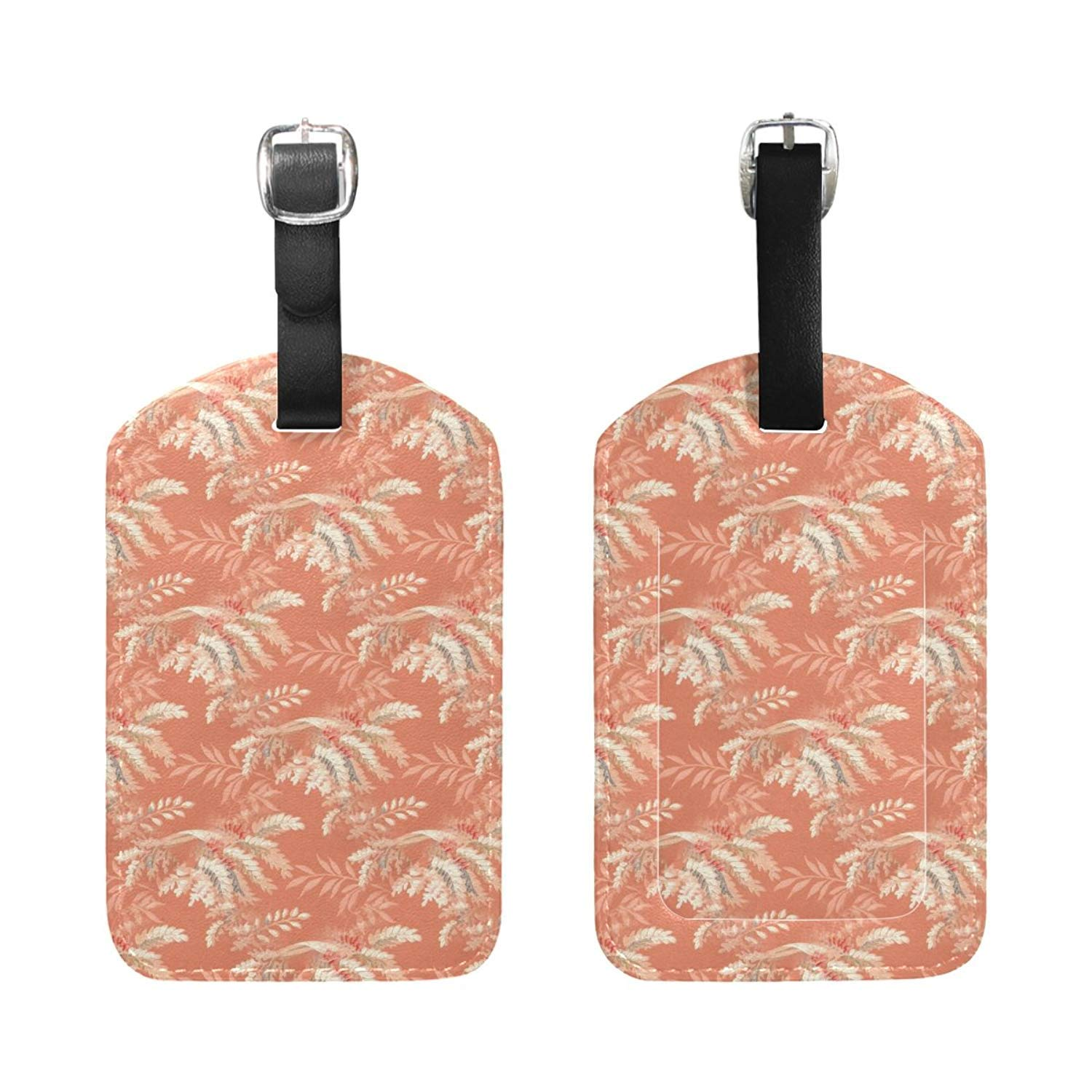 GoldK Tie Dye Perfection Leather Luggage Tags Baggage Bag Instrument Tag Travel Labels Accessories with Privacy Cover