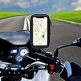 solawill Support Etanche Téléphone Universel Support de Téléphone à Moto 360° Rotatable Support Fixation Guidon Vélo pour iPhone X/8 Plus/7 Plus, Galaxy S9/S8 téléphone jusqu'à 5,8 pouces
