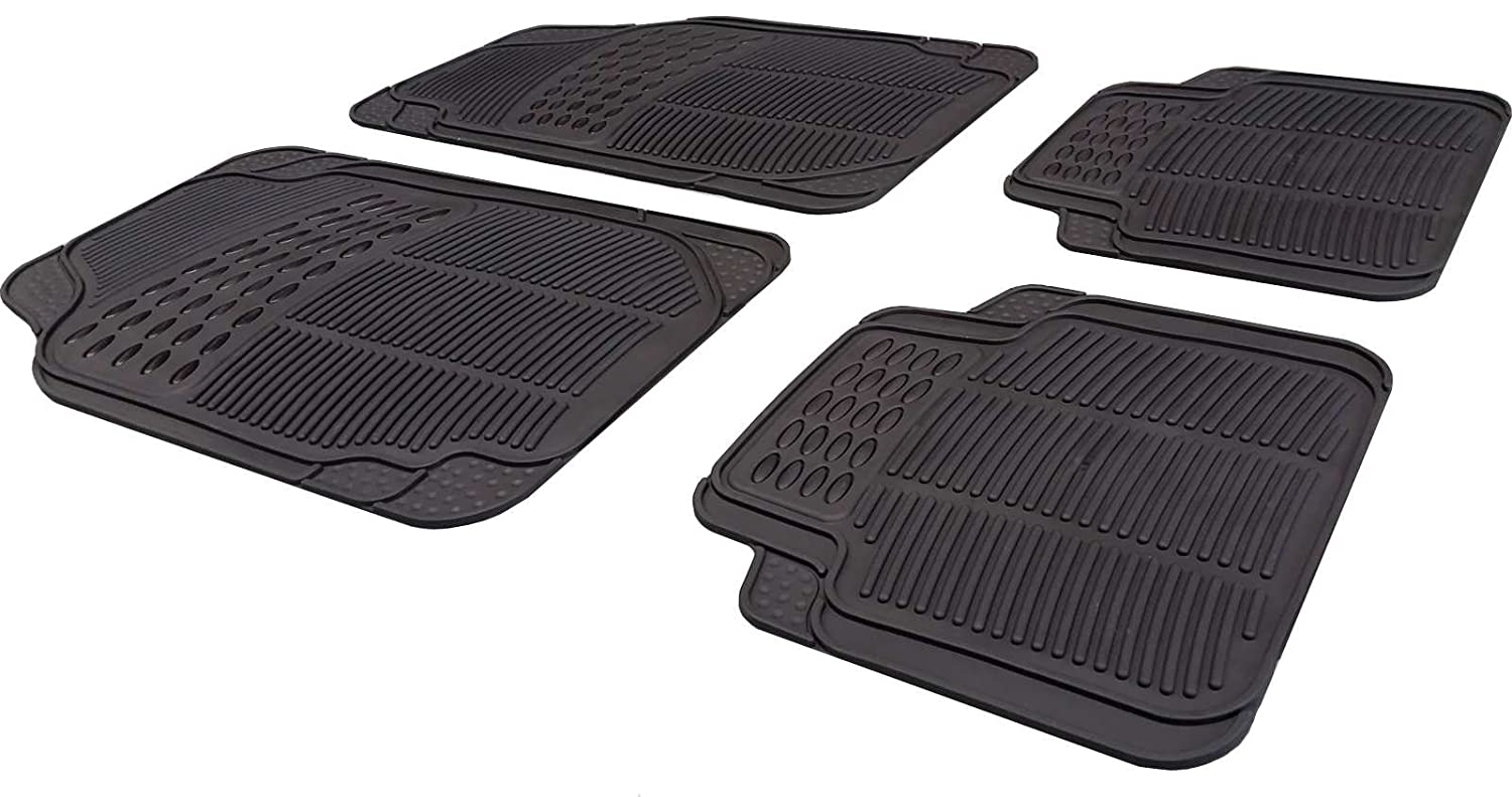 Xtremeauto® Universal Full Rubber Heavy Duty Non-Slip Car Floor Well Mat - Includes Sticker XA20 XtremeAuto®