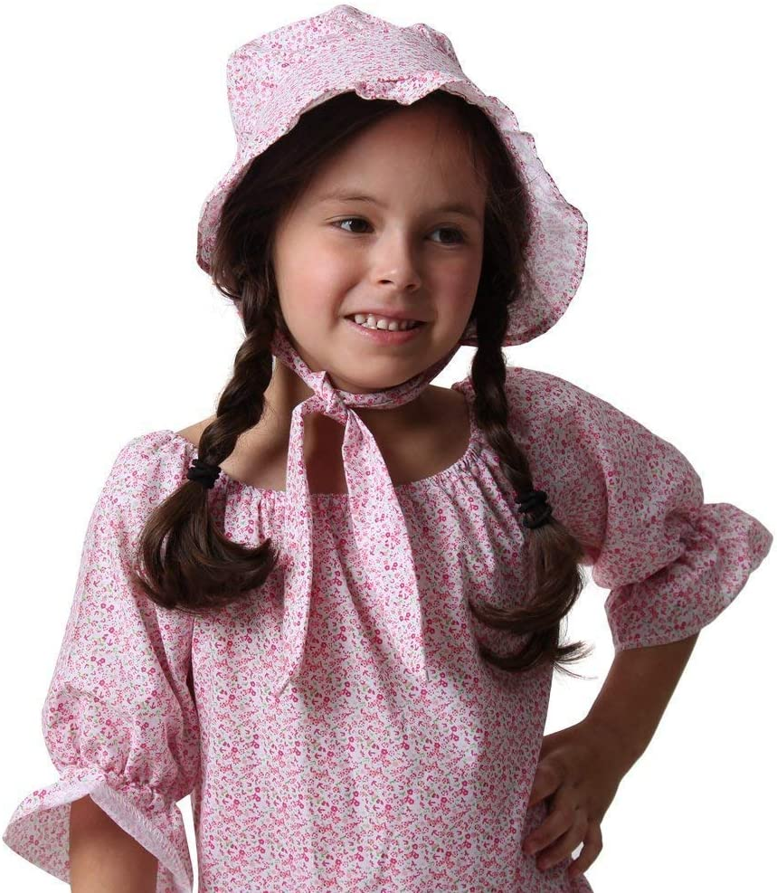 little house bonnet 100/% cotton pink on pink Gardening bonnet hat headpiece