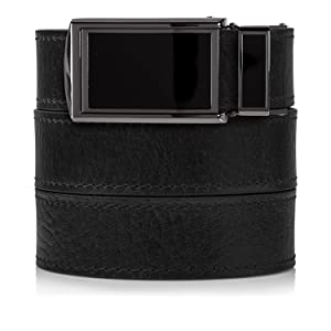 SlideBelts Men's Premium Top Grain Signature Leather Ratchet Belt