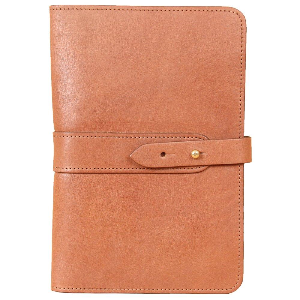Travel Leather Portfolio Folio Notebook Business Folder Small Saddle Tan Full-Grain USA Made No. 20