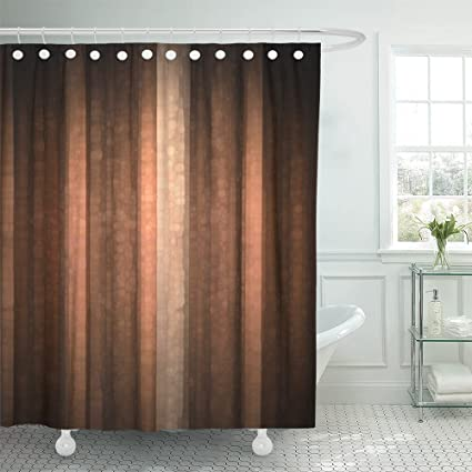 Amazoncom Emvency Shower Curtain Polyester 72x78 Inches Brown