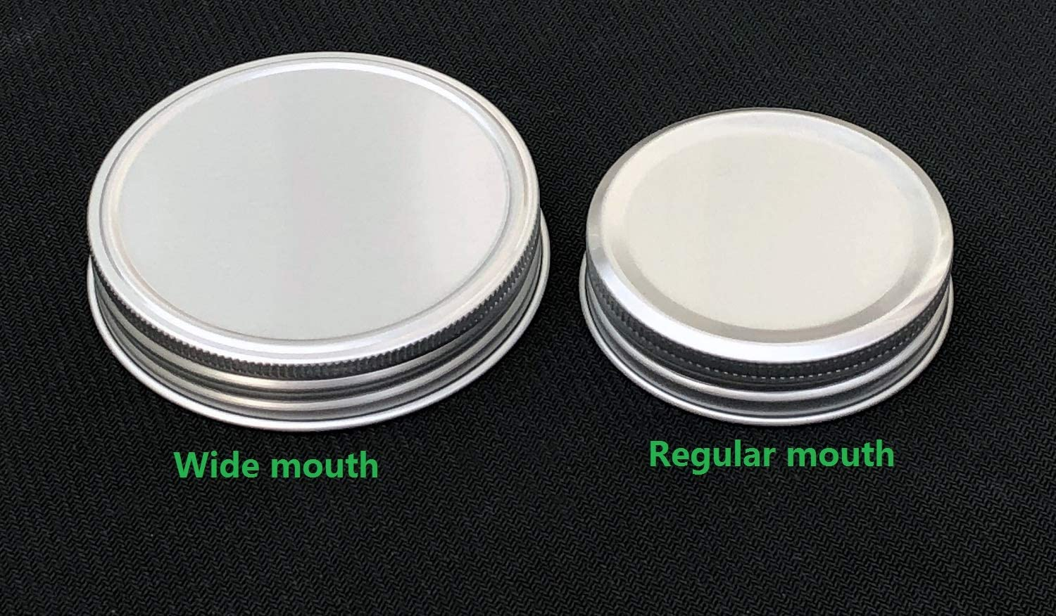 Pack of 6,Regular Mouth Rust Resistant Silver Aluminum Air Tight Storage Mason Jar Lids Regular Mouth Leak Proof and Secure,Dishwasher Safe,BPA Free